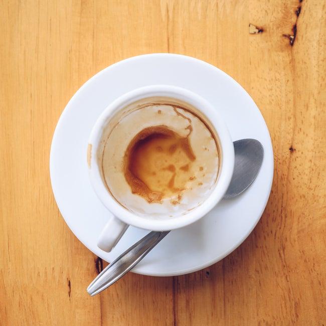 Tasse à café vide