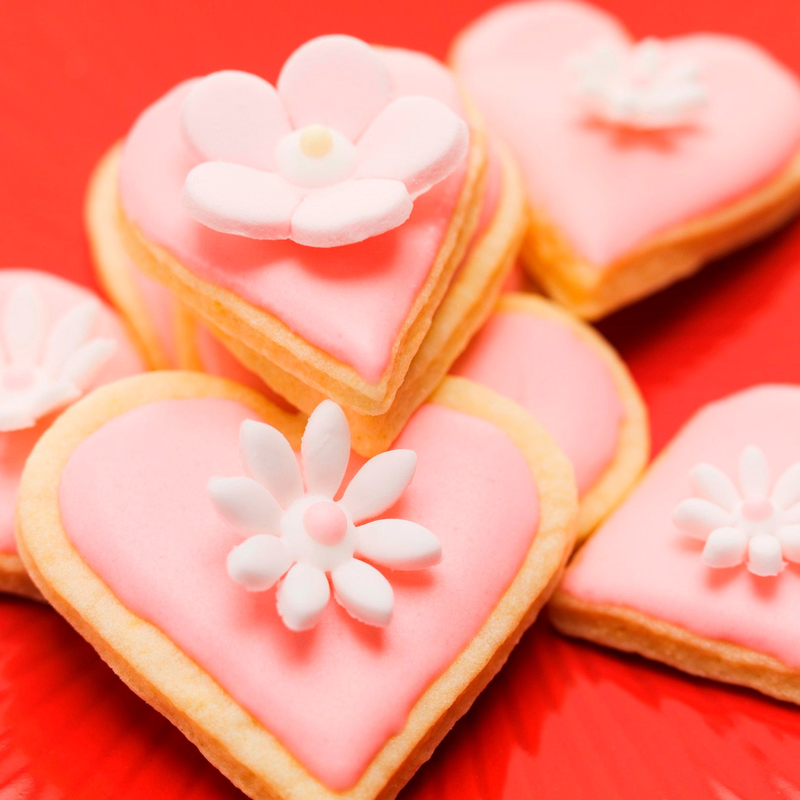 Almond Heart Shaped Biscuits Baking Mad
