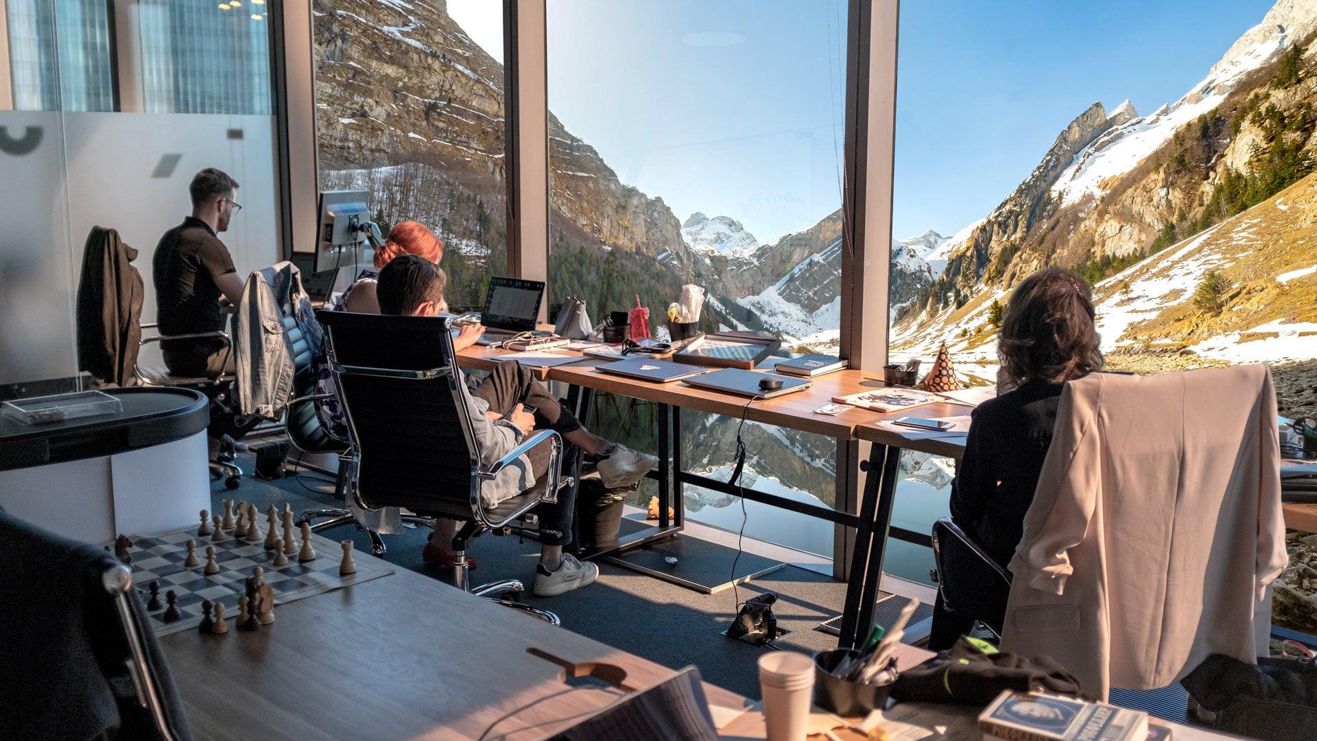Coworking view in Appenzell - Jamatu