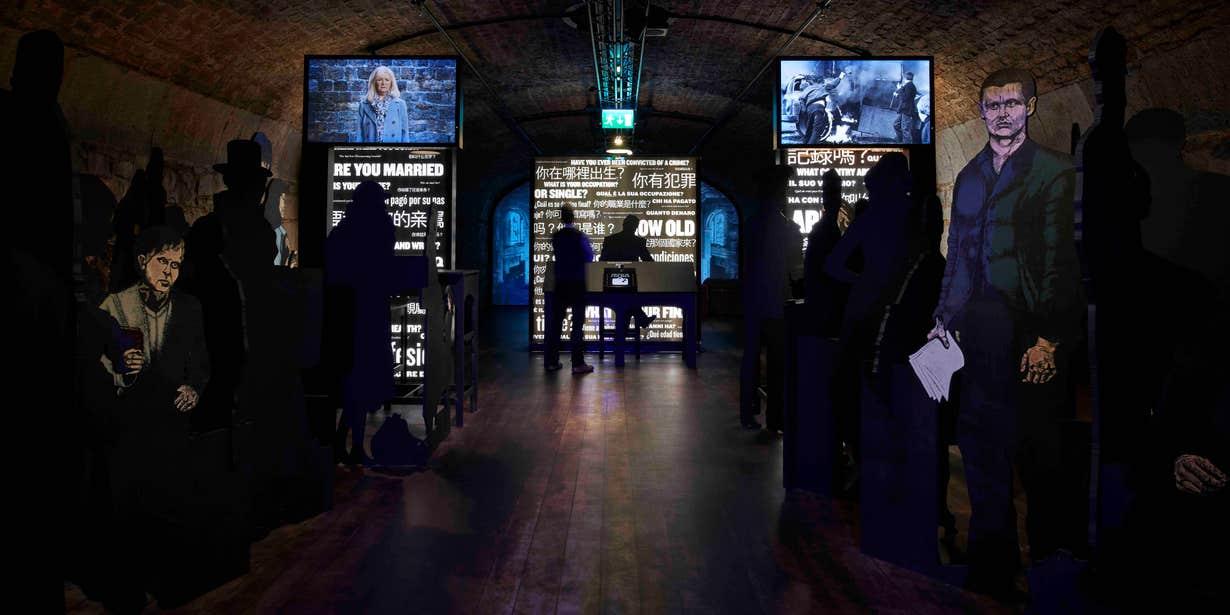 Interactive displays at EPIC The Irish Emigration Museum, Dublin.