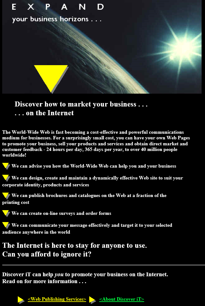 Discover IT 1996 Home Page