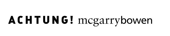 ACHTUNG! mcgarrybowen logo