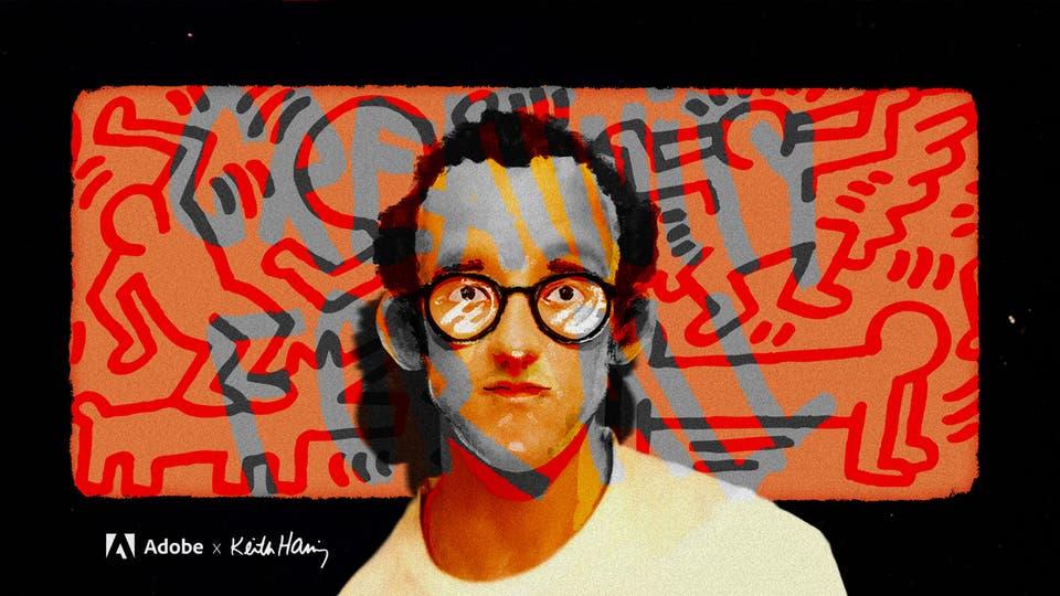 Adobe X Keith Haring