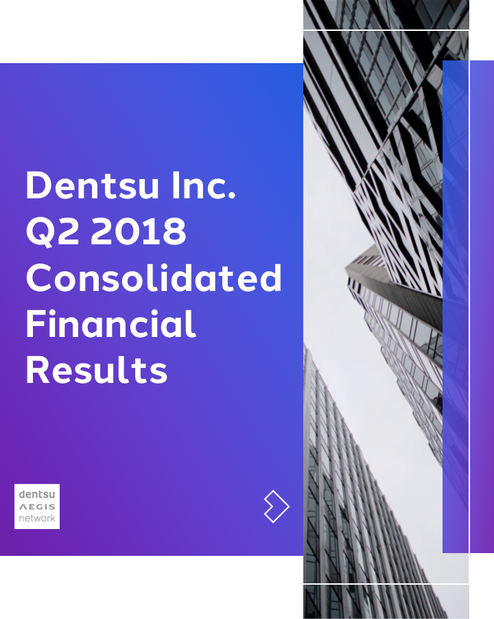 Dentsu Inc. Q2 2018 Consolidated Financial Results