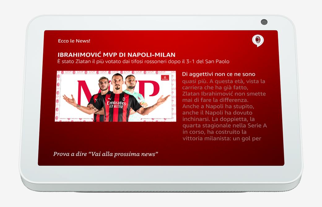 Ultime news AC Milan con Alexa