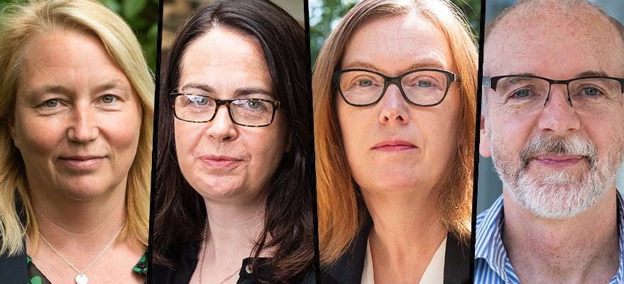 L to R: Prof Catherine Green, Prof Teresa Lambe, Prof Sarah Gilbert, Prof Andrew Pollard. Image credit: John Cairns.