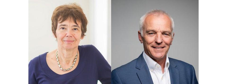 Prof Sally Shuttleworth and Prof Keith Willett.