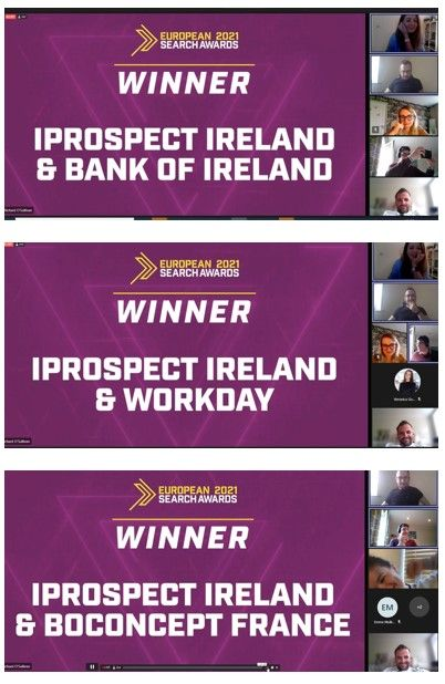 iProspect winning awards at the European Search Awards 2021