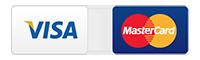 Visa and Mastercard icons