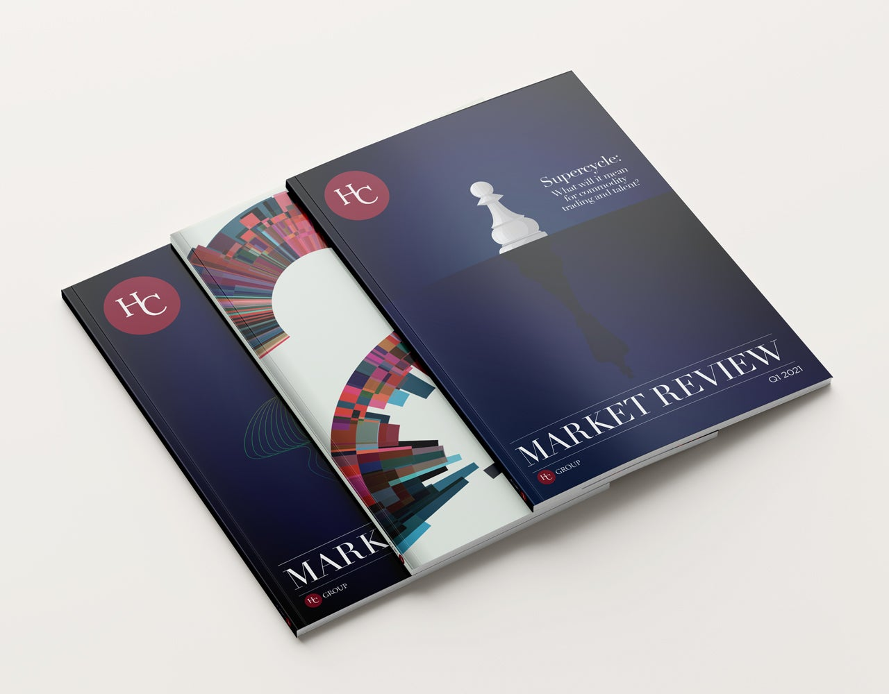 HC Group Market Review Brochure Covers
