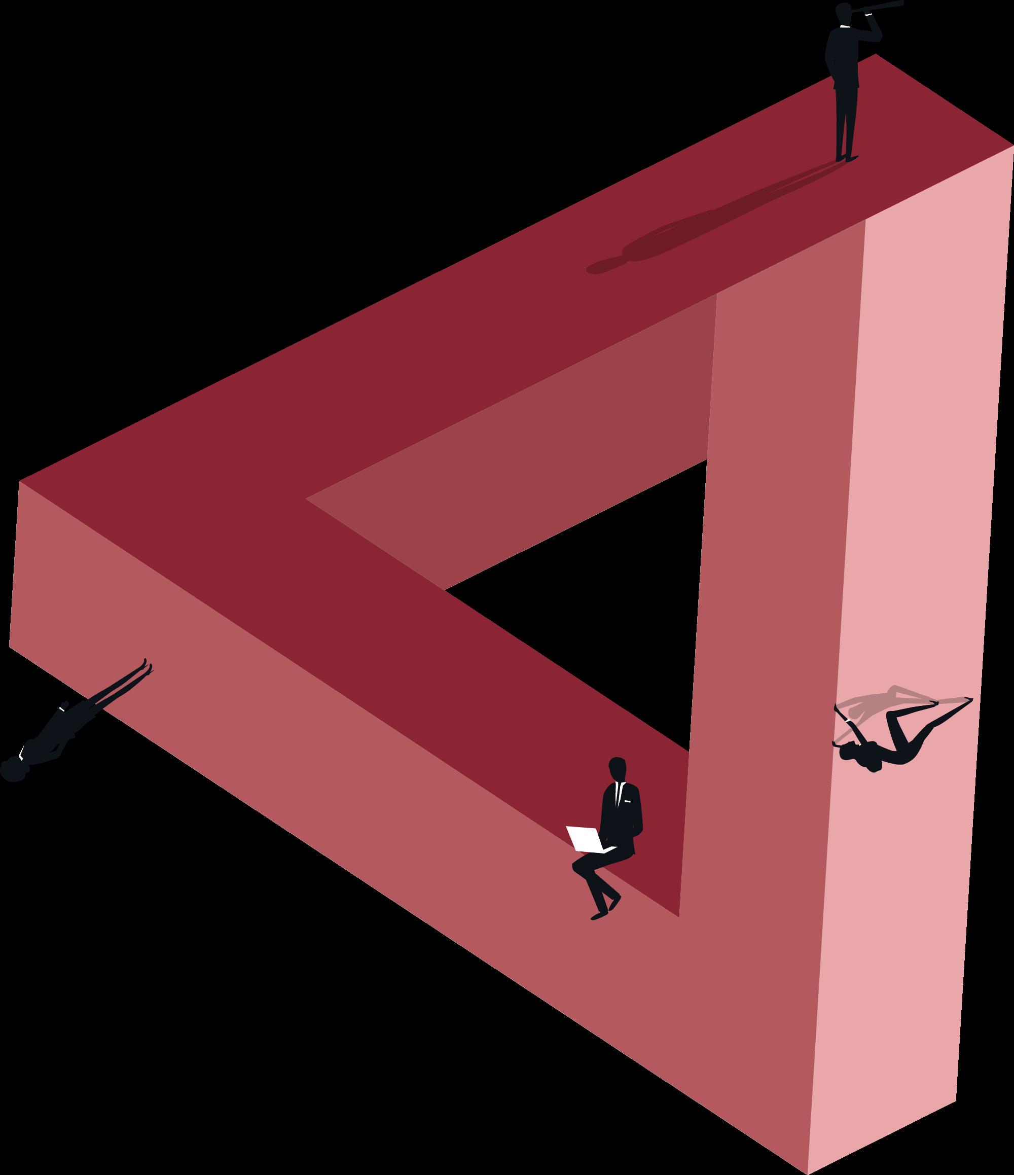Penrose triangle illustration for the HC Group website