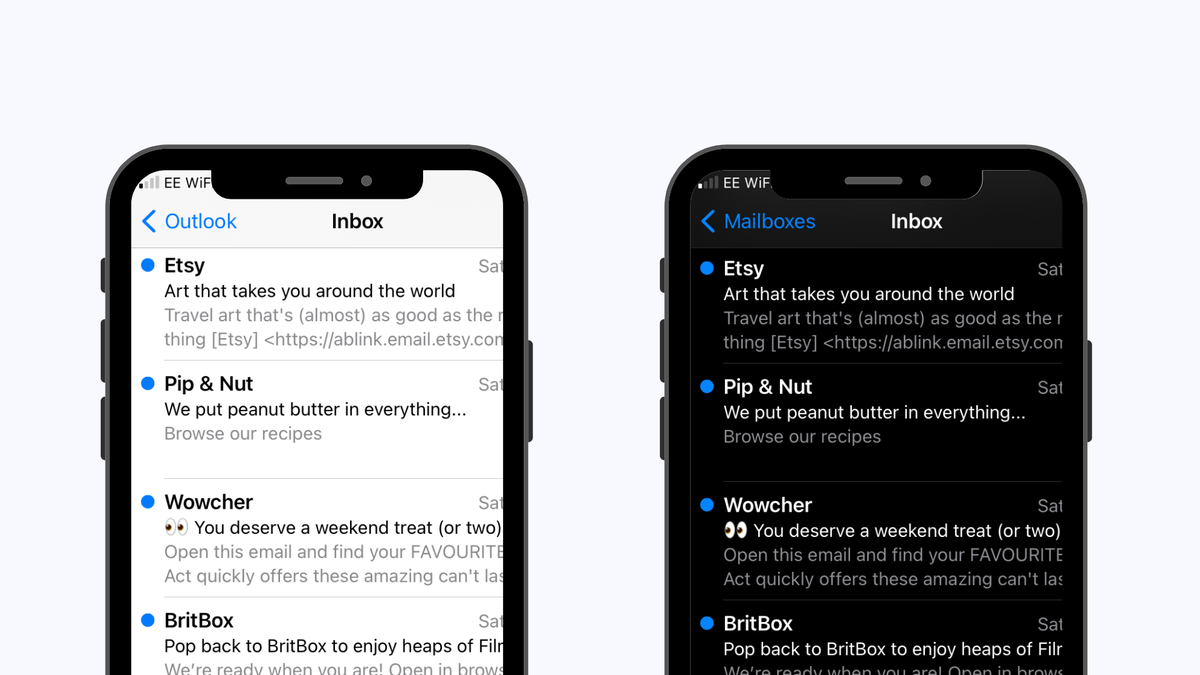 Dark mode for email