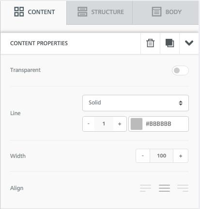 Divider formatting options
