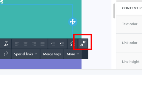 Collapse text toolbar