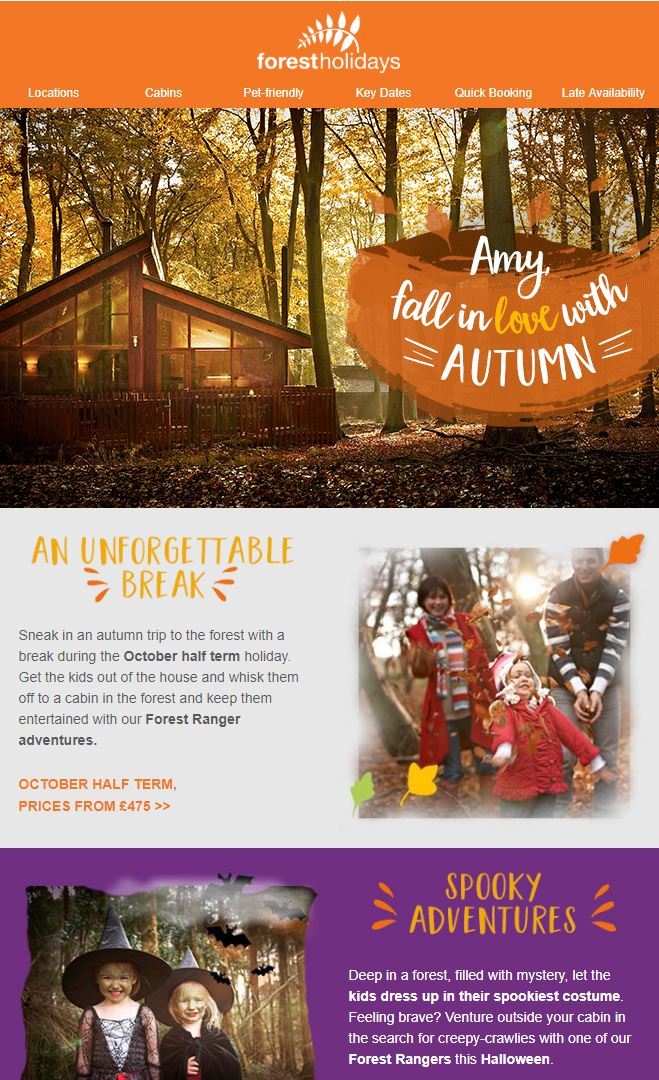 Use Halloween images in your email campaigns