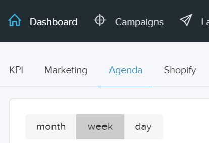Agenda tab