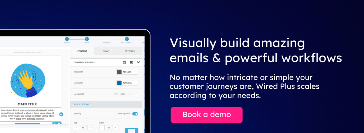 Book a demo of Wired Plus