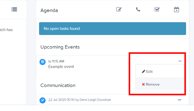 Remove an event