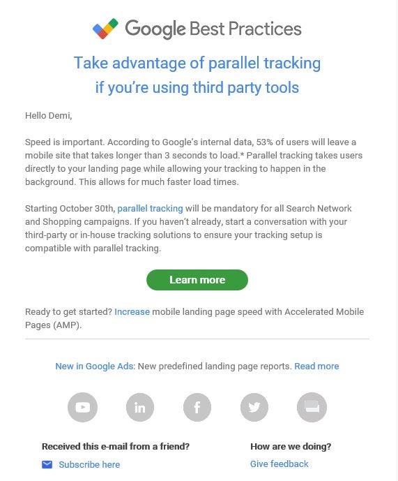 Google Practices effective CTA example