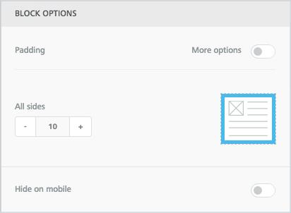 Divider block options