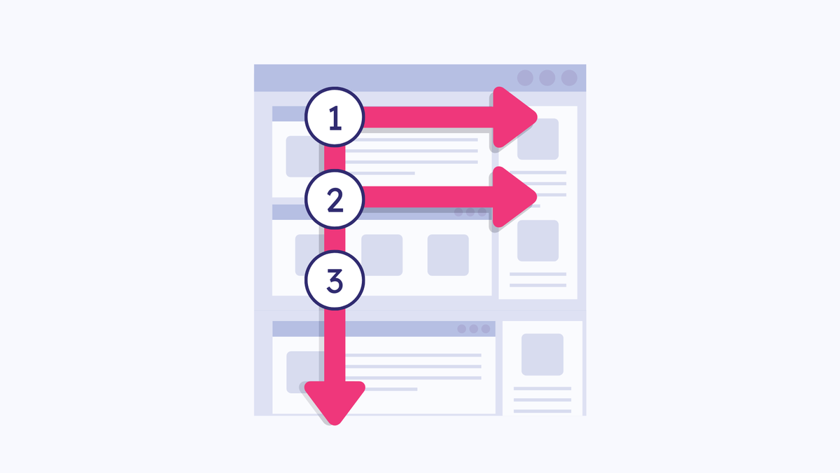 Try the F-shaped reading pattern in your email design