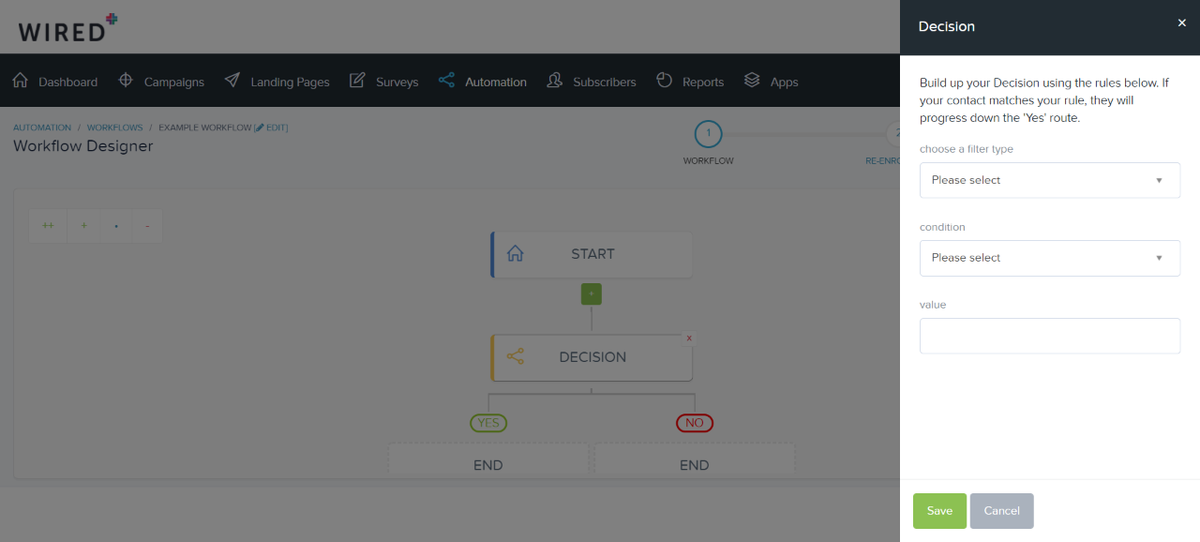 Build up your workflow decision