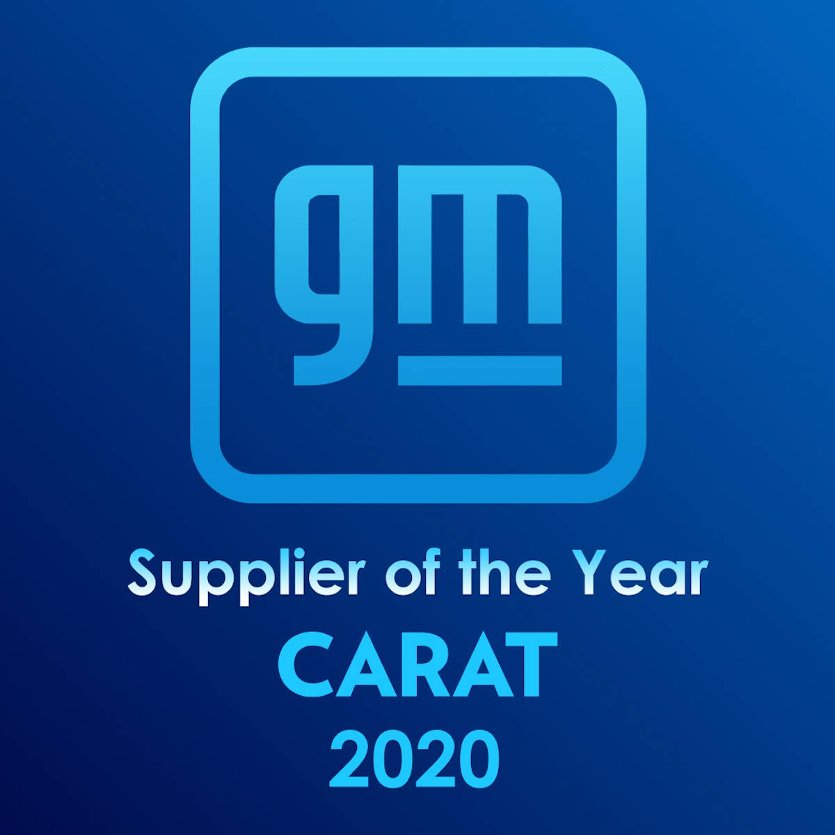 Carat Named a 2020 Supplier of the Year Winner by General Motors