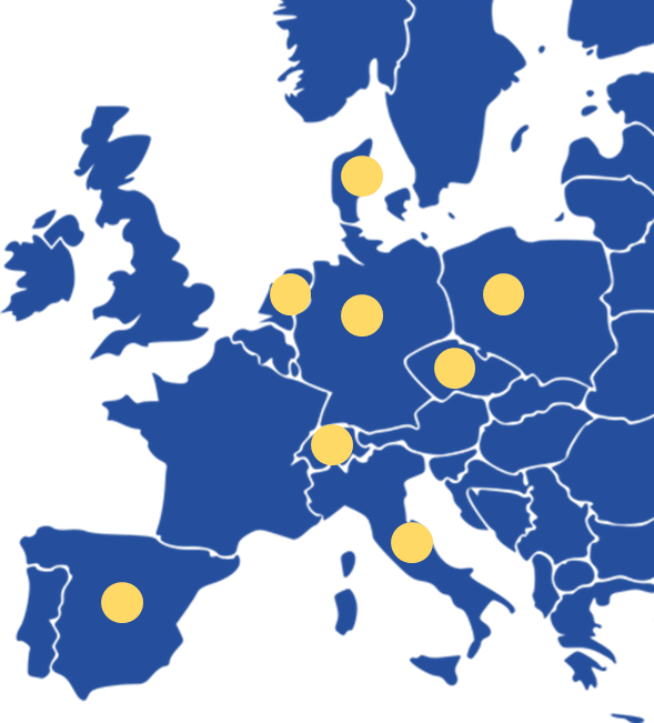 map of stopstorm and consortium partner locations