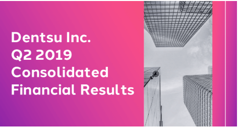 Dentsu Inc. Q2 2019 Consolidated Financial Results