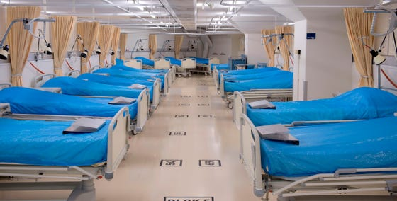Verpleegafdeling in het Calamiteitenhospitaal