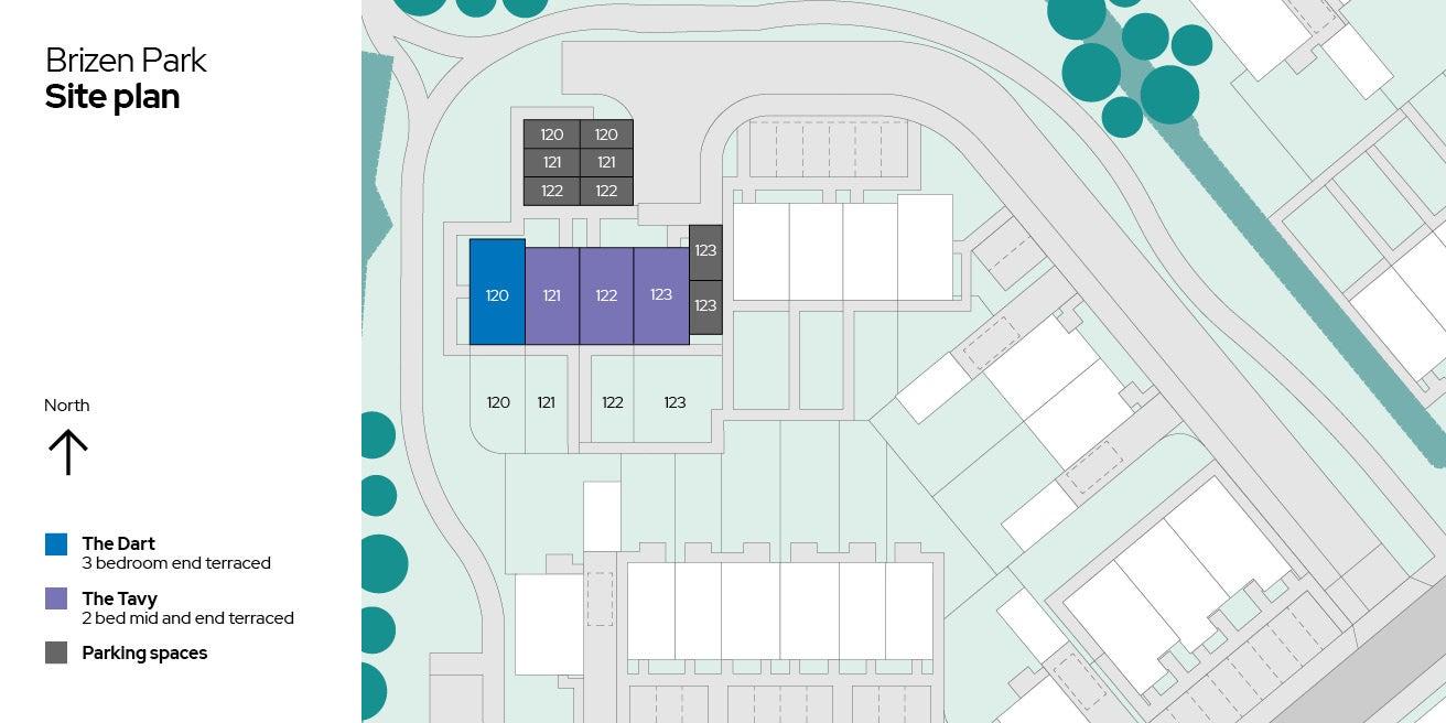 Brizen Park Plots 120-123 site plan
