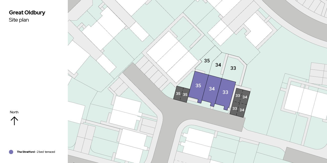 Great Oldbury Site Plan Plots 33-35
