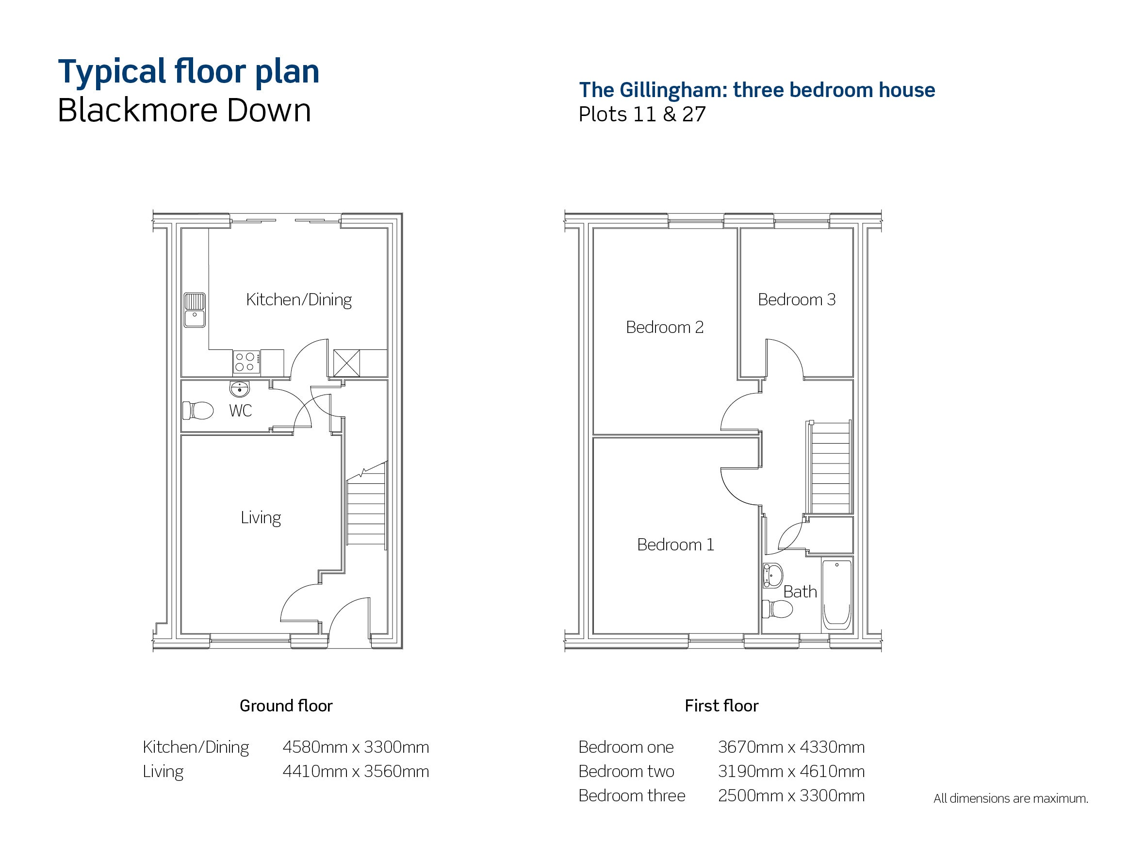 Drawing of Blackmore Down The Gillingham floor plan