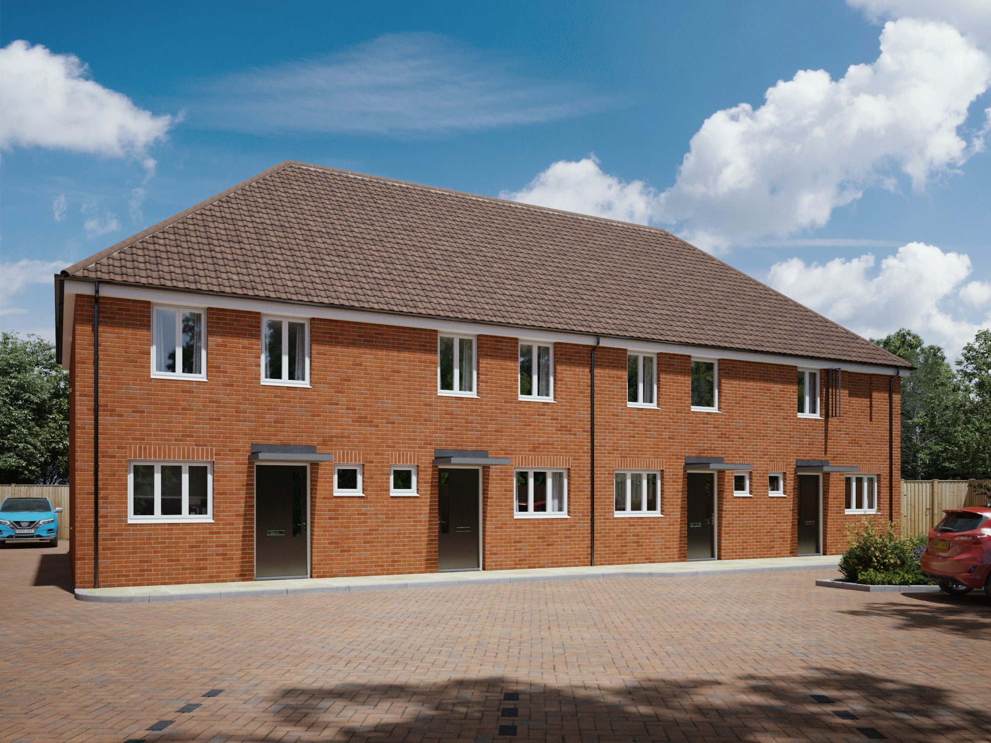 Crownbrook Place - houses CGI (plots 30 - 33)