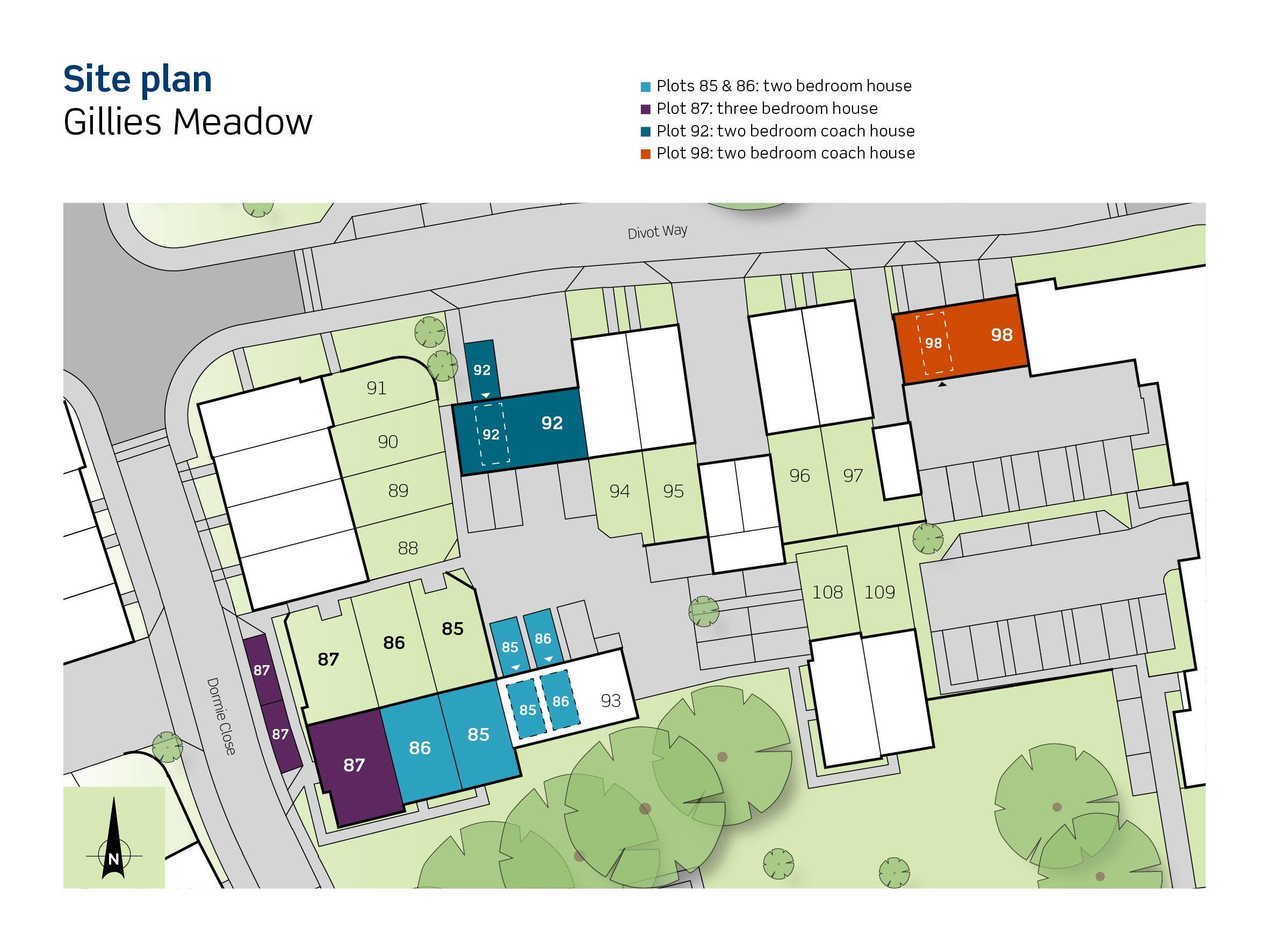 Gillies Meadow siteplan