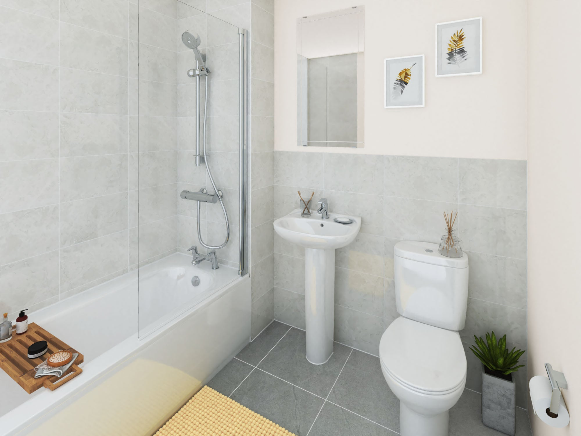 The Printworks bathroom CGI
