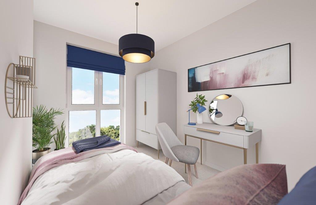 Knights Quarter bedroom CGI