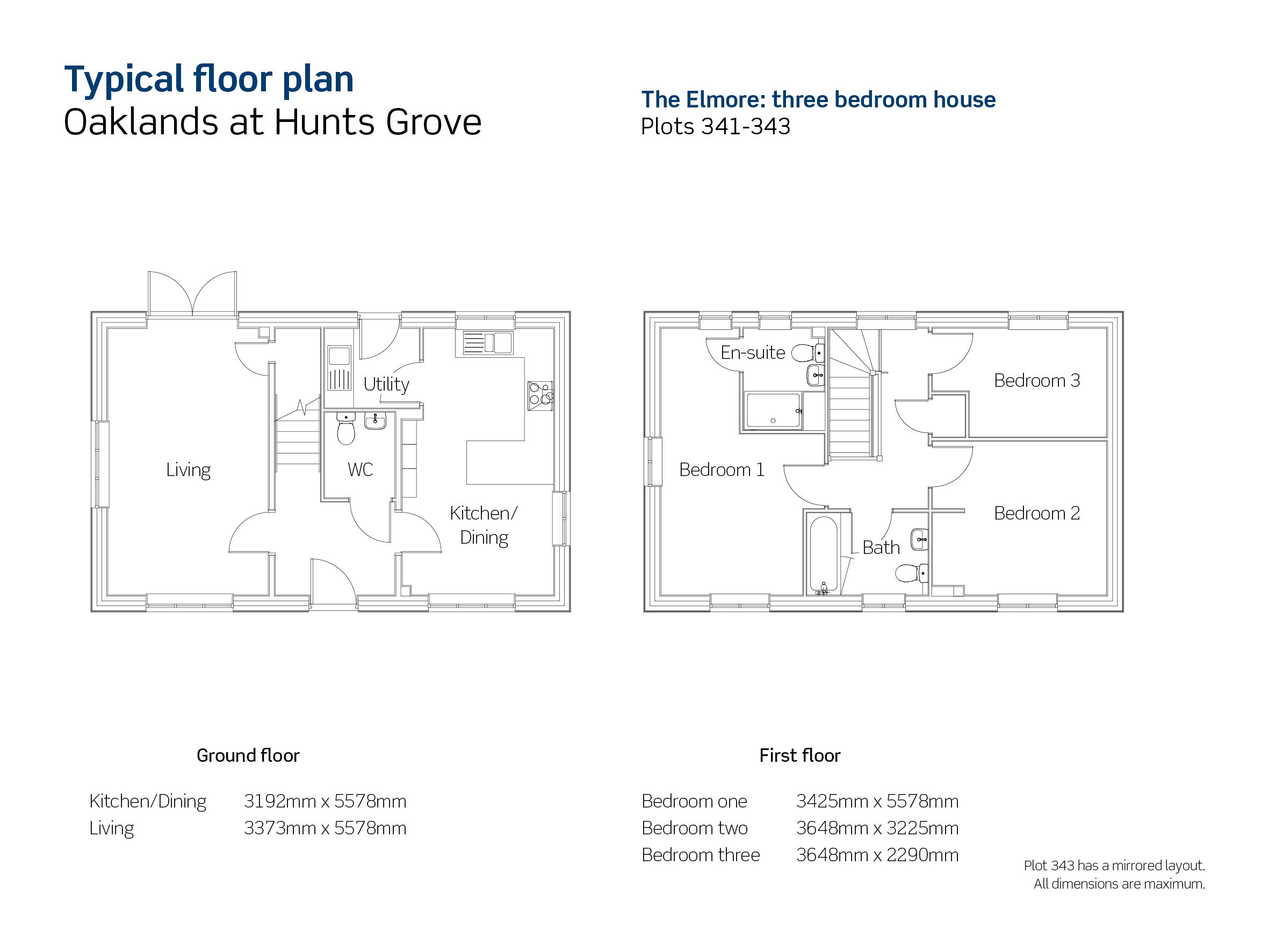 Drawing of Oaklands The Elmore floor plan