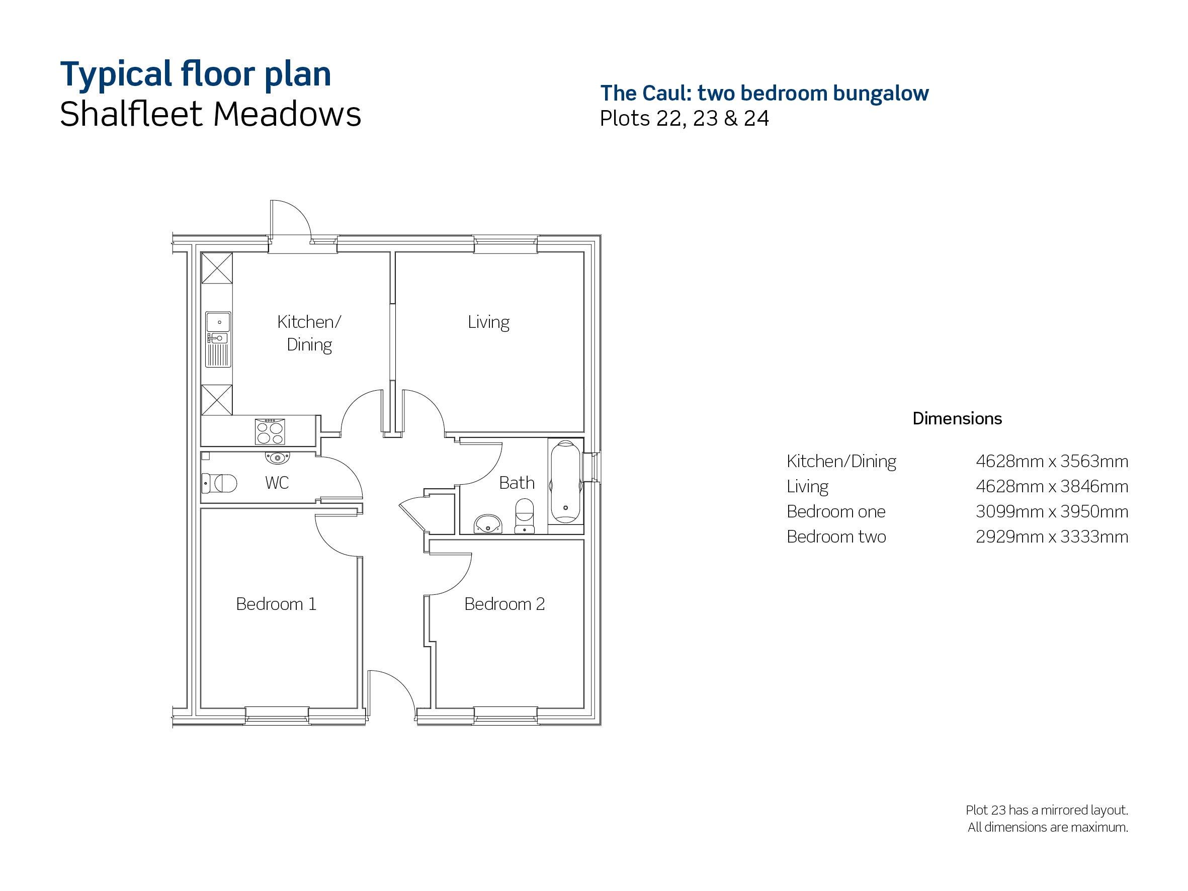 Shalfleet Meadows Plot 24 floorplan