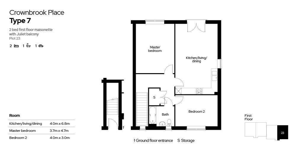 Crownbrook Place, plot 23 floor plan