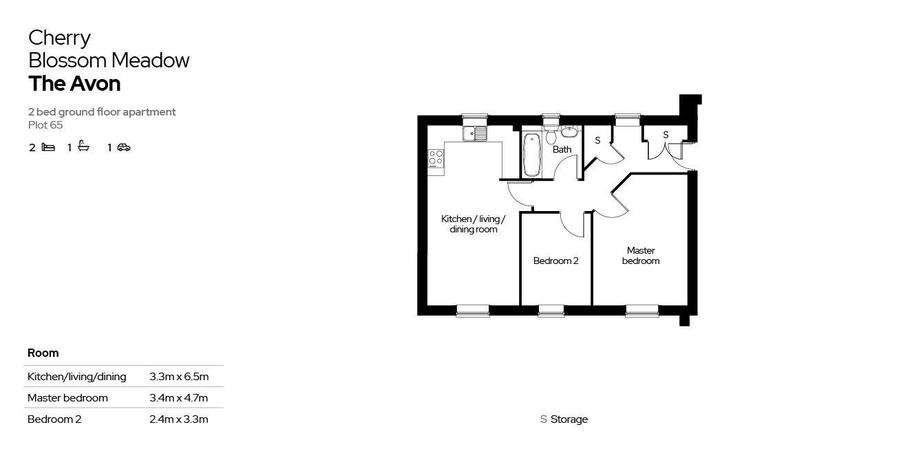 Cherry Blossom Meadow plot 65  floor plan