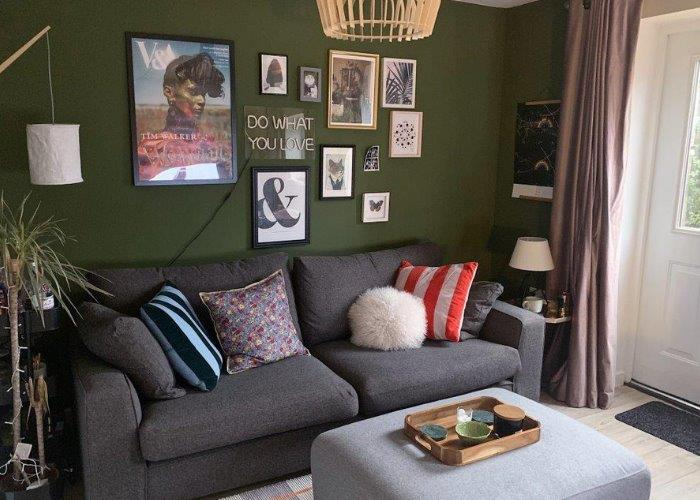 A shared owners living room