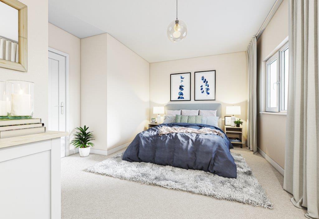 Oakland Grange Interior Bedroom CGI