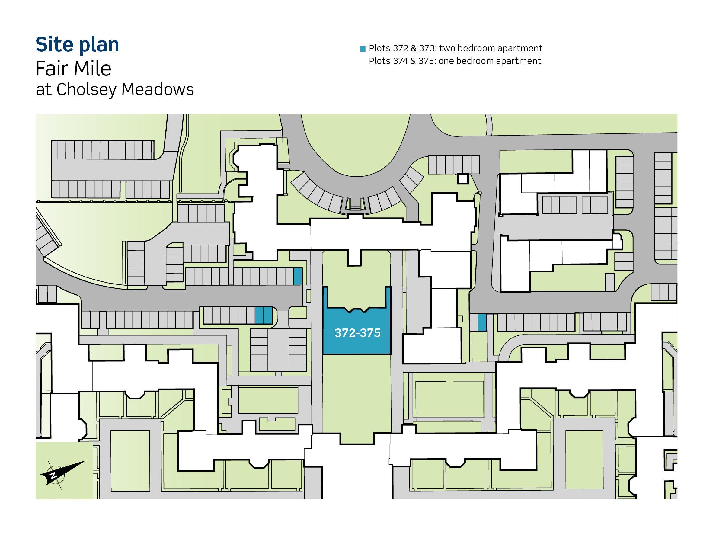 Fair Mile at Cholsey Meadows site plan