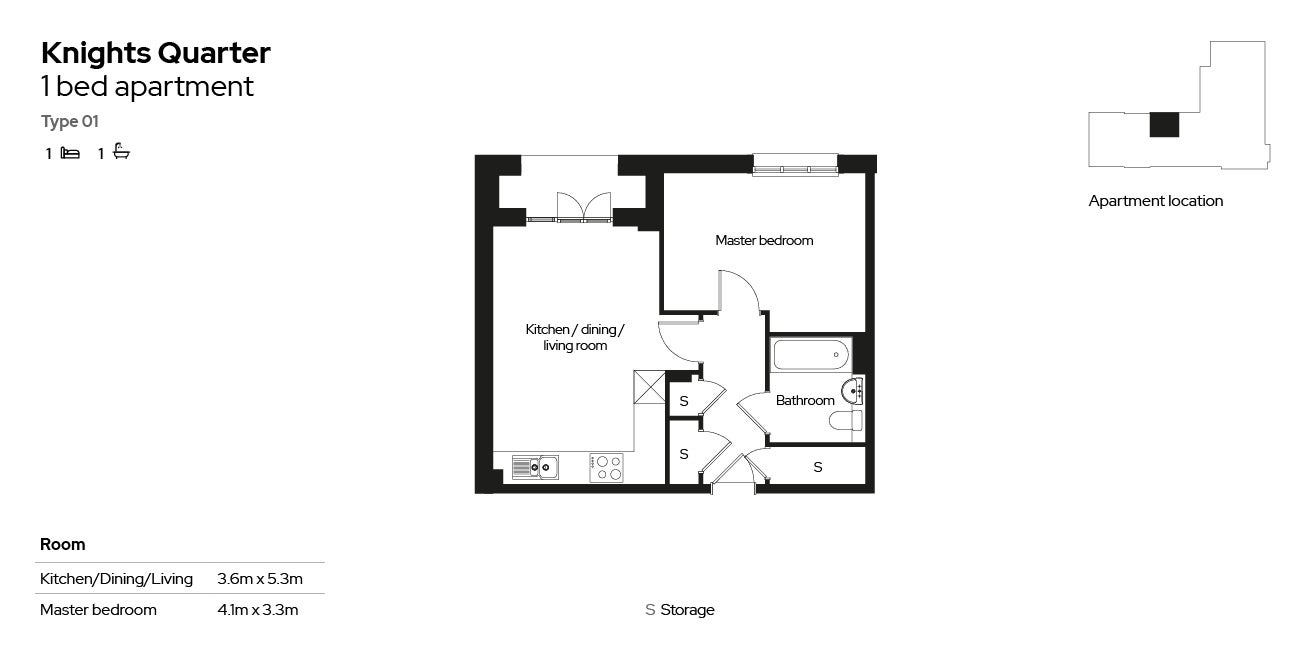 Knights Quarter apartment type 01