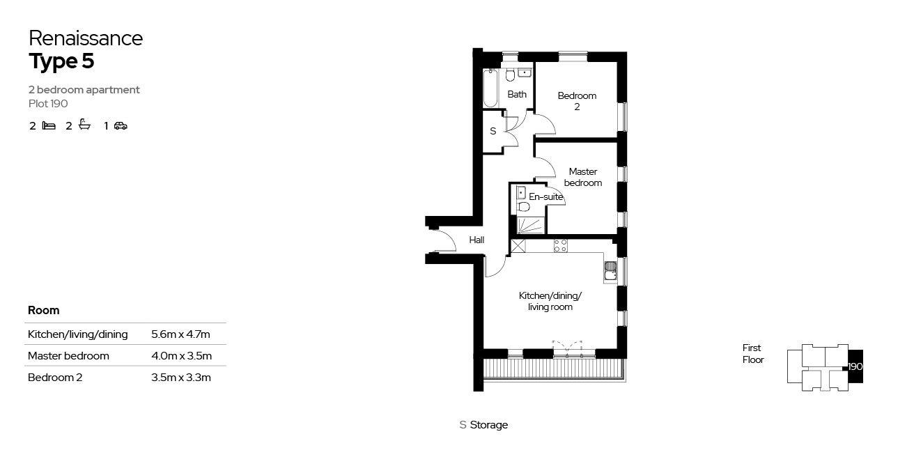 Renaissance, Block 4, 2 beds, plot 190