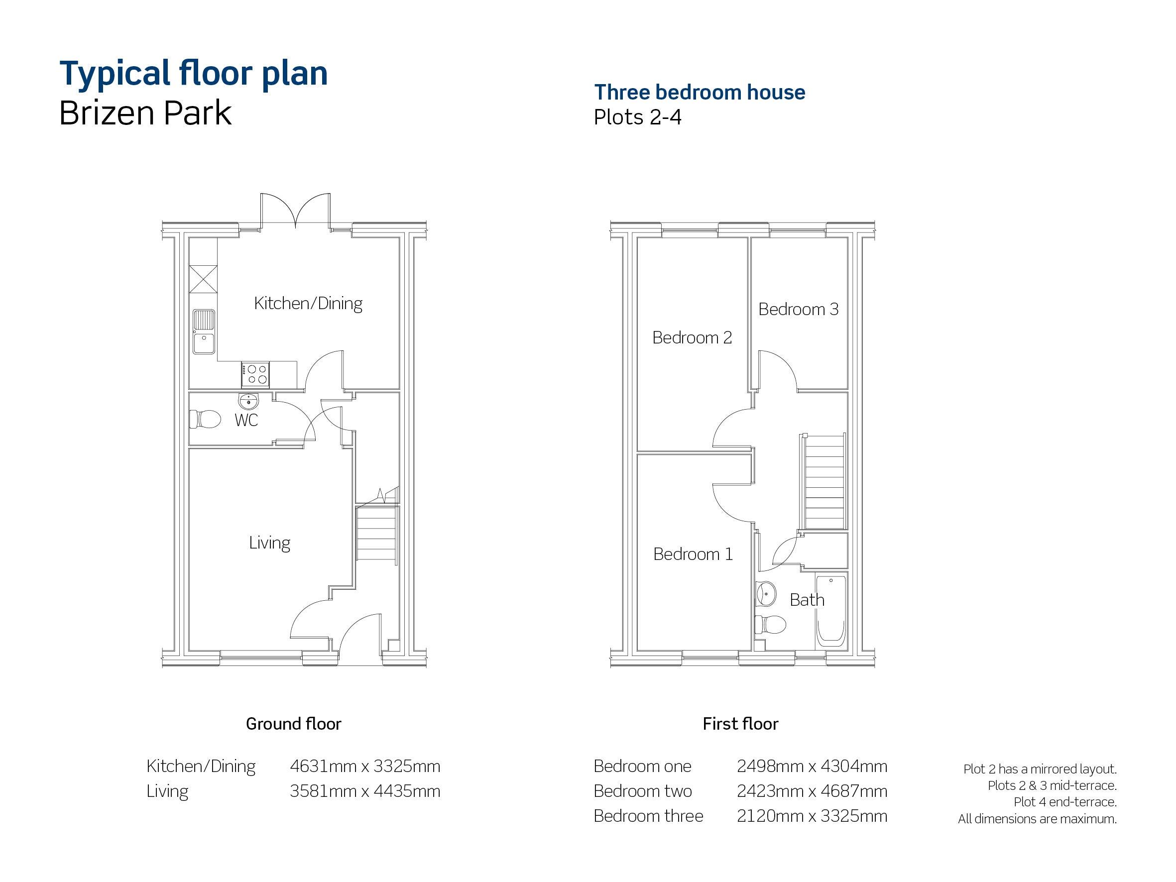 Brizen Park, plot 3 floor plan