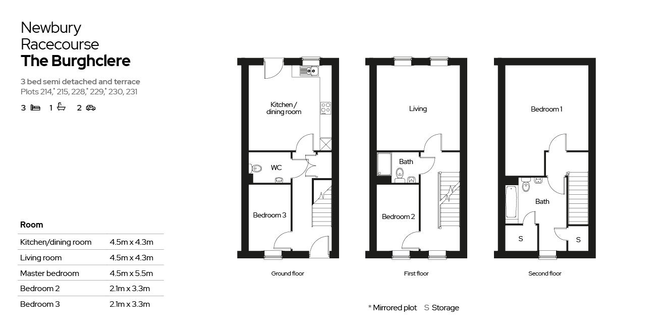 Floor plan of plots at Newbury Racecourse