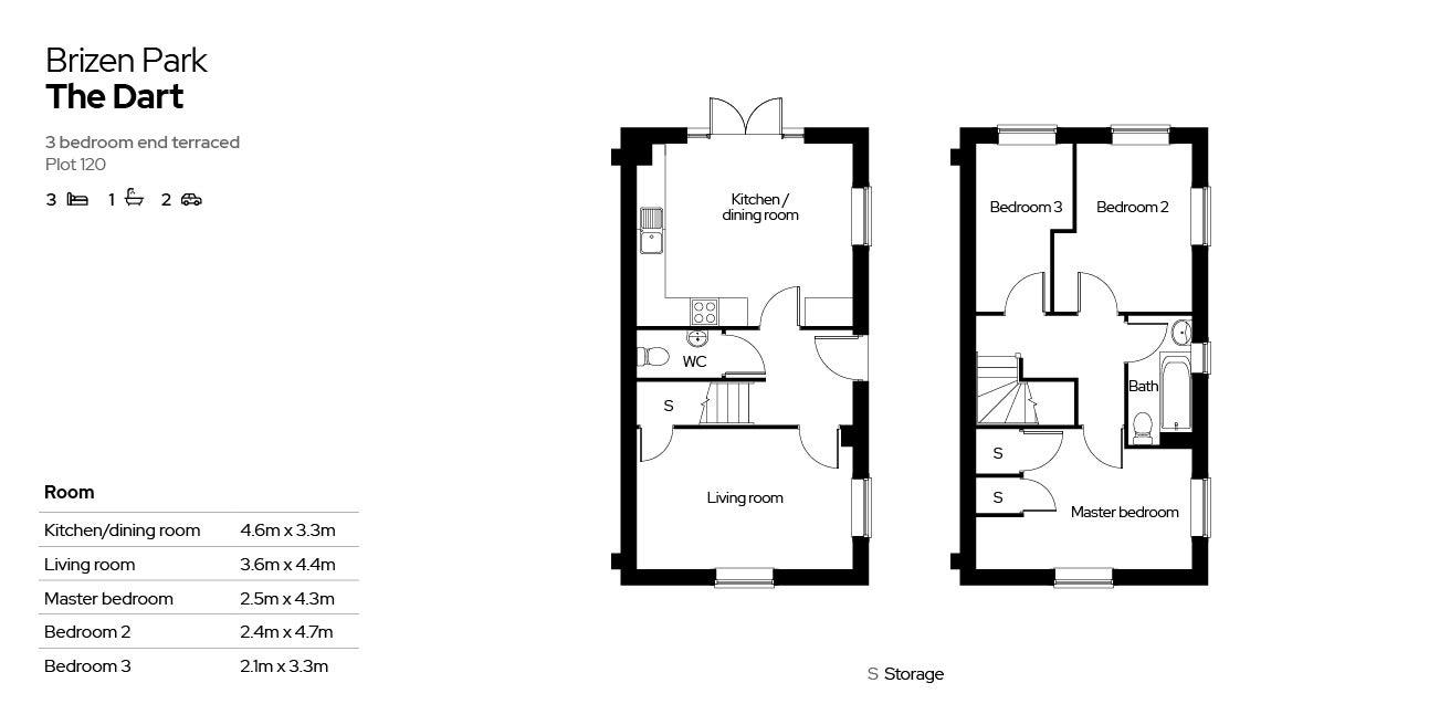 Brizen Park floorplan - plot 120