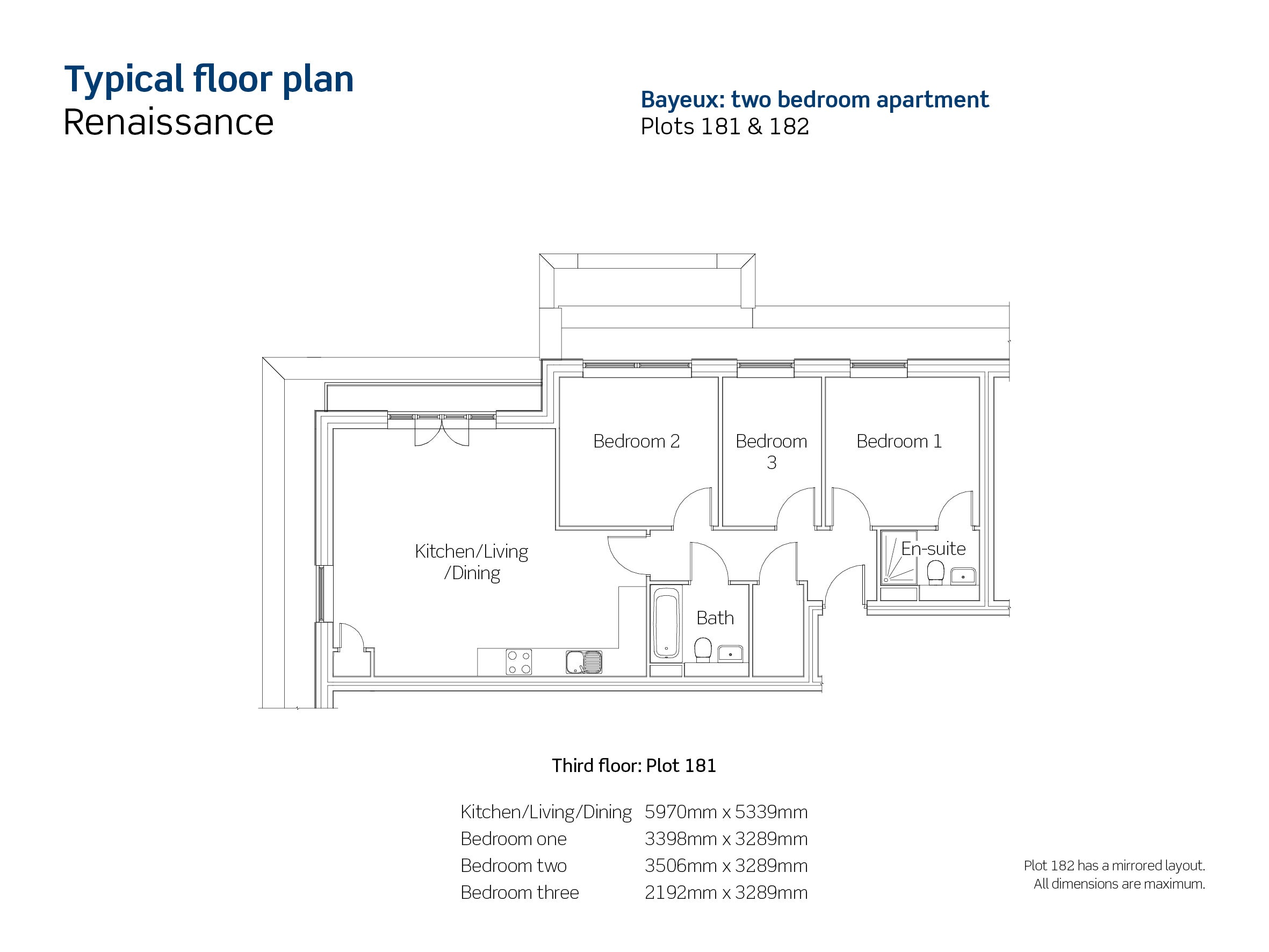 Plot 181 & 182 Renaissance Floor Plan